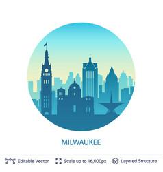 Milwaukee famous city scape vector