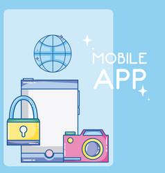 mobile app technology vector image