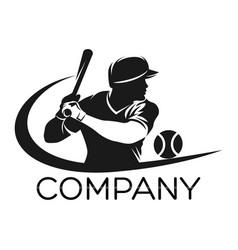Modern baseball logo vector