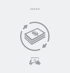 Money transfer icon - dollars vector