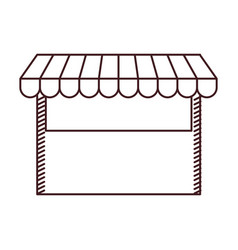 monochrome silhouette of store icon vector image