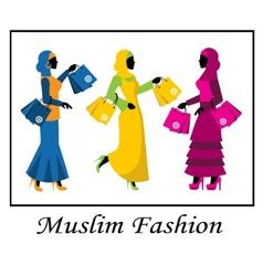 Muslim fashion vector image