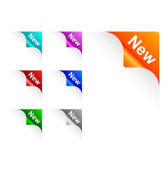 New paper corner vector image vector image