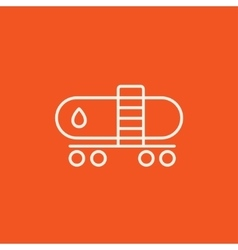 Oil tank line icon vector image