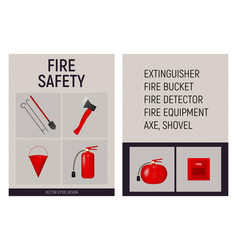 paper booklet fire safety concept vector image