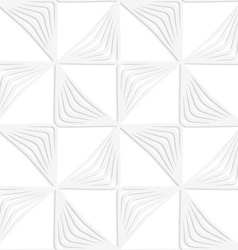 Paper white striped rotated triangles vector