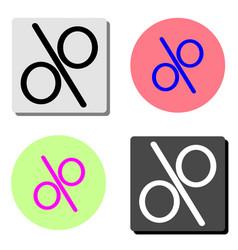 percentage flat icon vector image