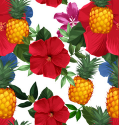 pineapples seamless patter4 vector image