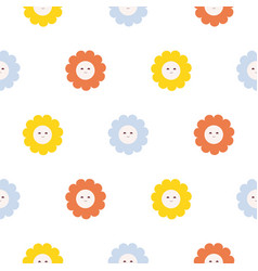 Polka dot seamless pattern with bright circles and vector