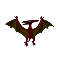 Pteranodon isolated pterodactyl dinosaur bird vector