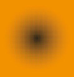 radial halftone on an orange background stylish vector image