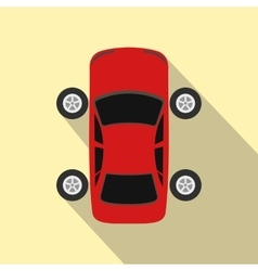 Repair car wheel flat icon with shadow vector