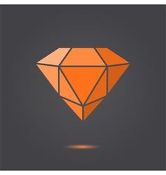 Ruby jewel vector