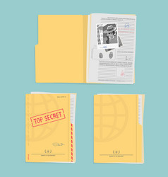 Secret folder with documents vector