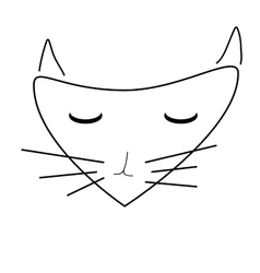 Sign face of cat 3607 vector image