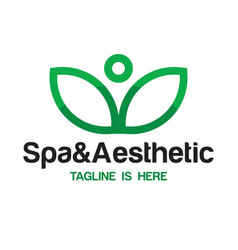 Spa and aesthetic logo vector