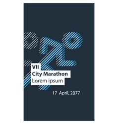 Sports activity identity runner logo vector image