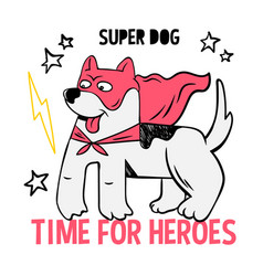 Superhero super cute dog in mask vector