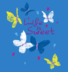 sweet butterfly vector image