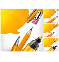 tip pen pencils speech bubble 10 v vector image