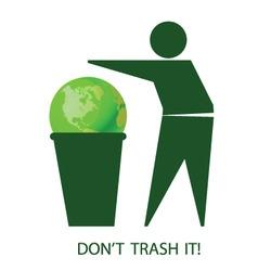 trash it vector image