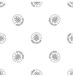 unique jewellery pattern seamless vector image