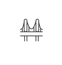 urban and city element icon - bridge in trendy vector image