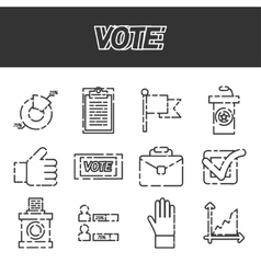 Vote icons set vector