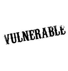 Vulnerable rubber stamp vector