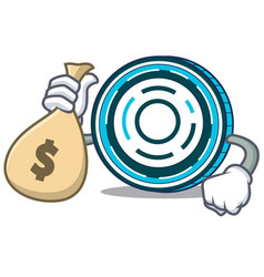 With money bag aion coin character cartoon vector