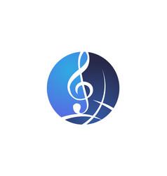 world music logo design template vector image