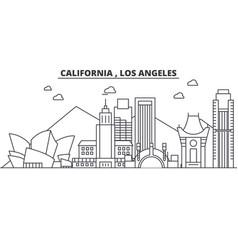california los angeles architecture line skyline vector image vector image