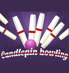 candlepin bowling color vector image vector image