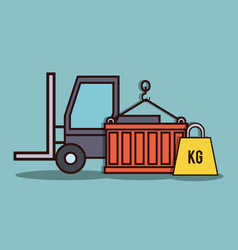 forklift truck icon vector image