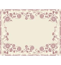 frame floral decorative ornament vector image vector image