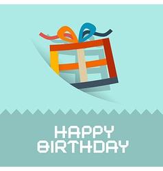 Happy Birthday Retro Blue Card Template vector image vector image
