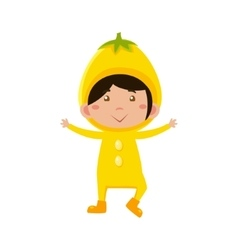 Kid In Lemon Costume vector image vector image