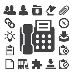 Office icons set eps 10 vector image
