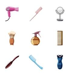 Salon icons set cartoon style vector image vector image