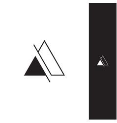 abstract trianggel logo vector image