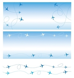 Air travel vector image vector image