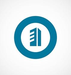 building bold blue border circle icon vector image