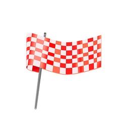 checkered racing flag vector image