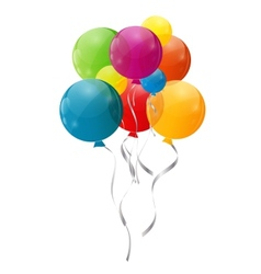 Color glossy balloons background vector
