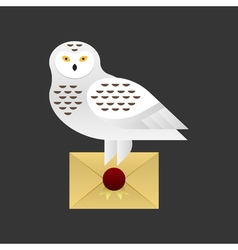 owl holding a holding a letter vector image vector image
