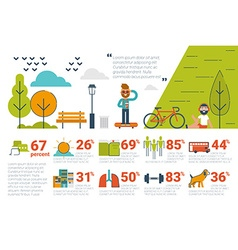 Park concept Infographic icons and elements vector image