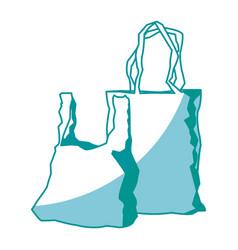 two plastic shopping bag market image vector image