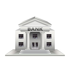 Bank building isolated on white vector image