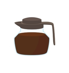 Glass coffee pot icon cartoon style vector