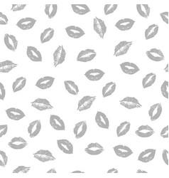 gray lips pattern vector image vector image